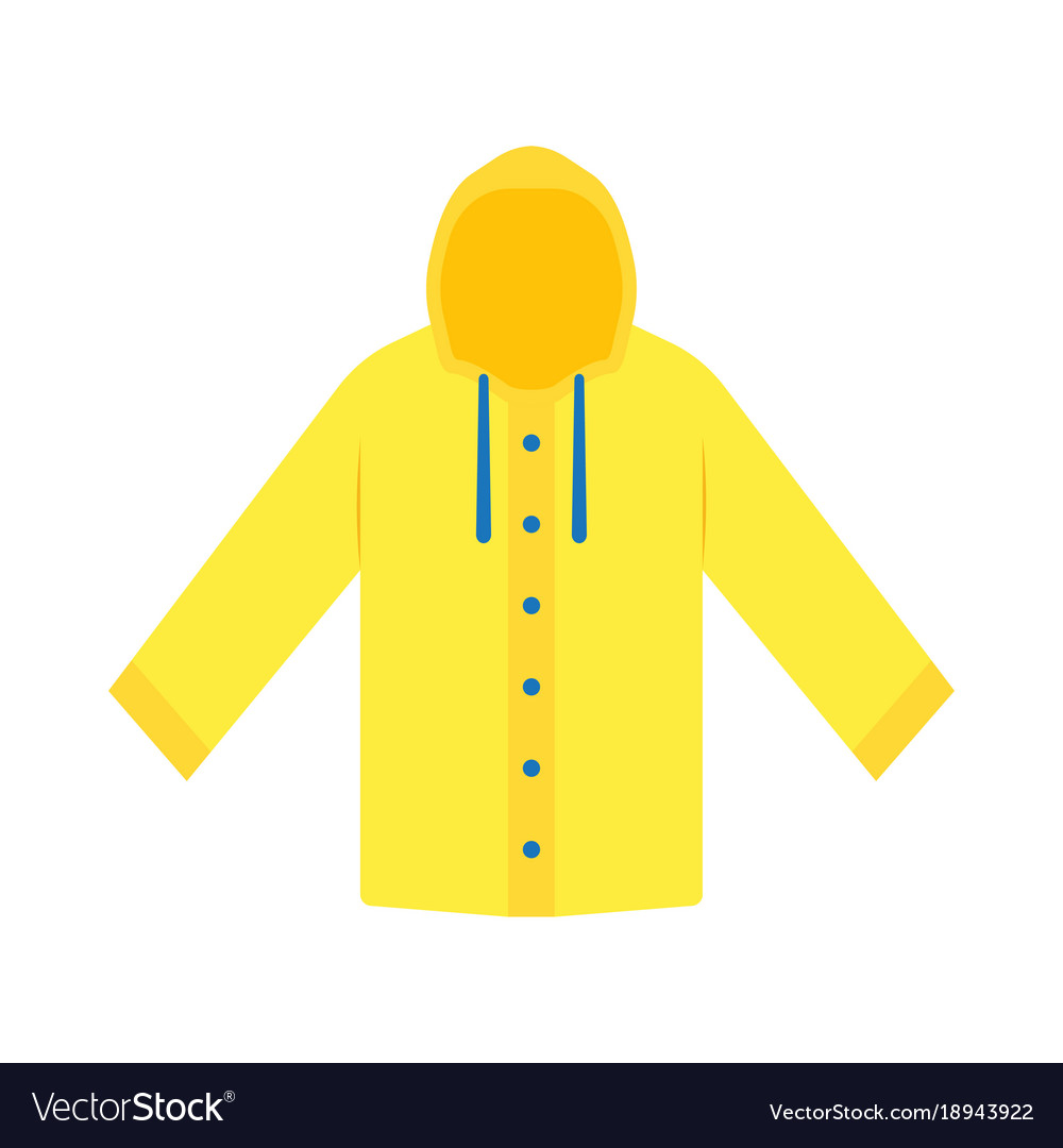 yellow raincoat waterproof clothes royalty free vector image