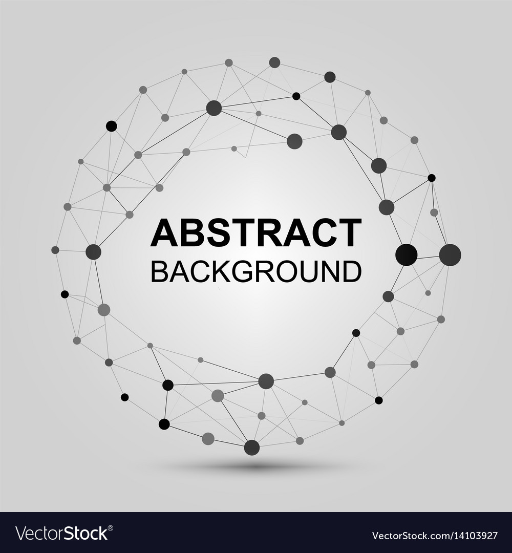 Abstract background with dots and lines vector image