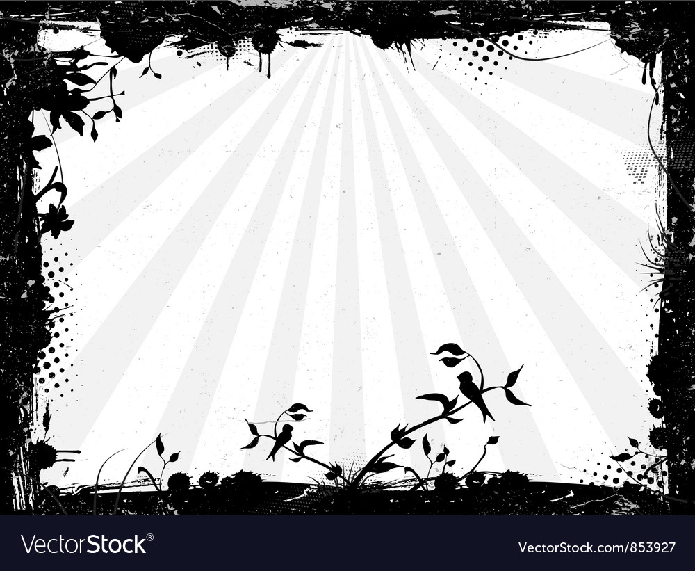 Grunge background with rays