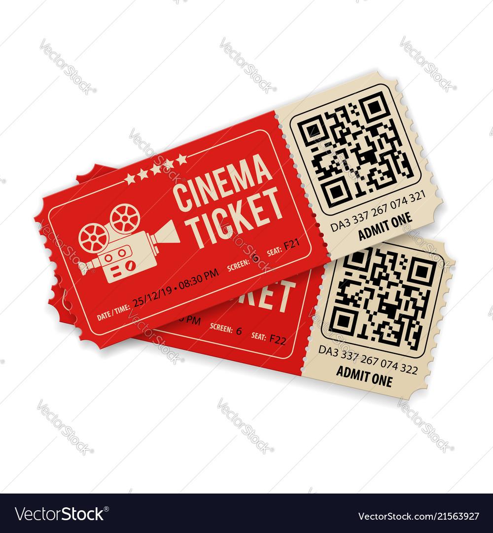 Set cinema tickets