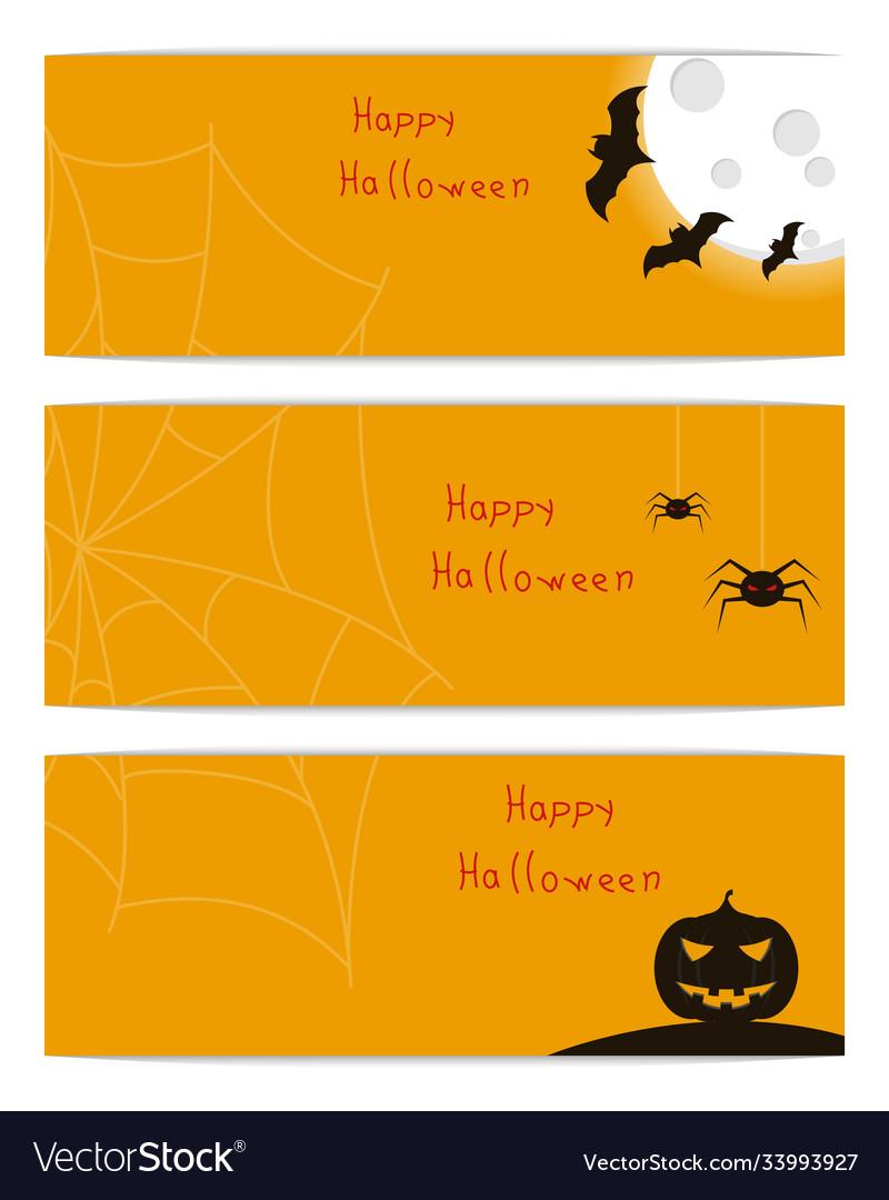 Website headers banners with happy halloween