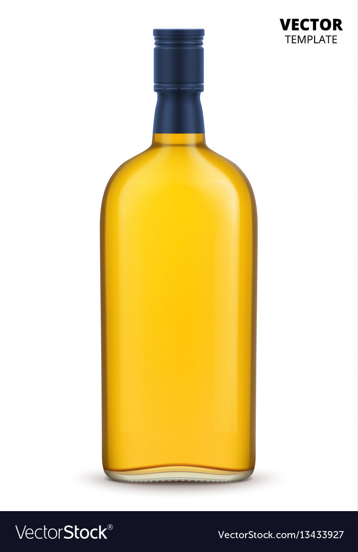 Whiskey brandy or cognac bottle isolated