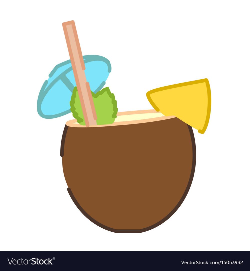 Coconut pina colada cocktail icon