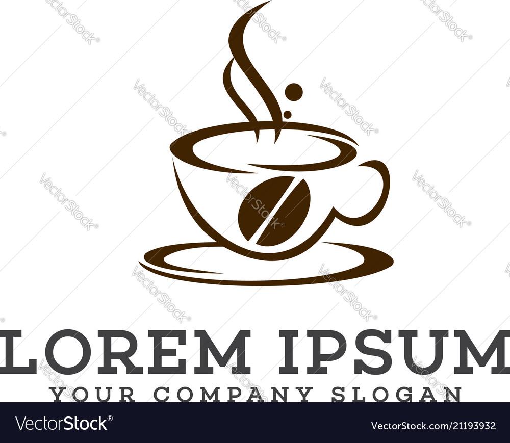 Coffe logo design concept template