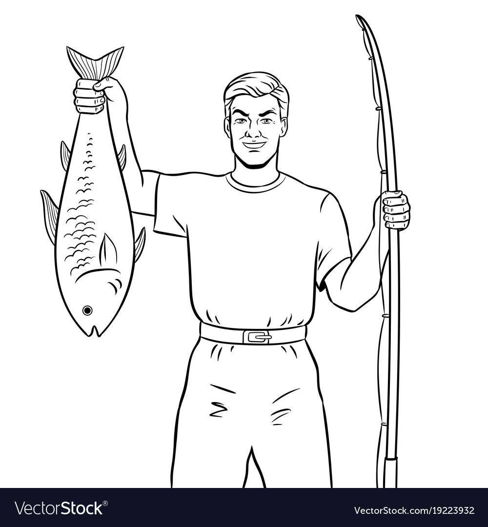 fisherman Coloring Page - Free Disabled People Coloring Pages ... | 1080x1000