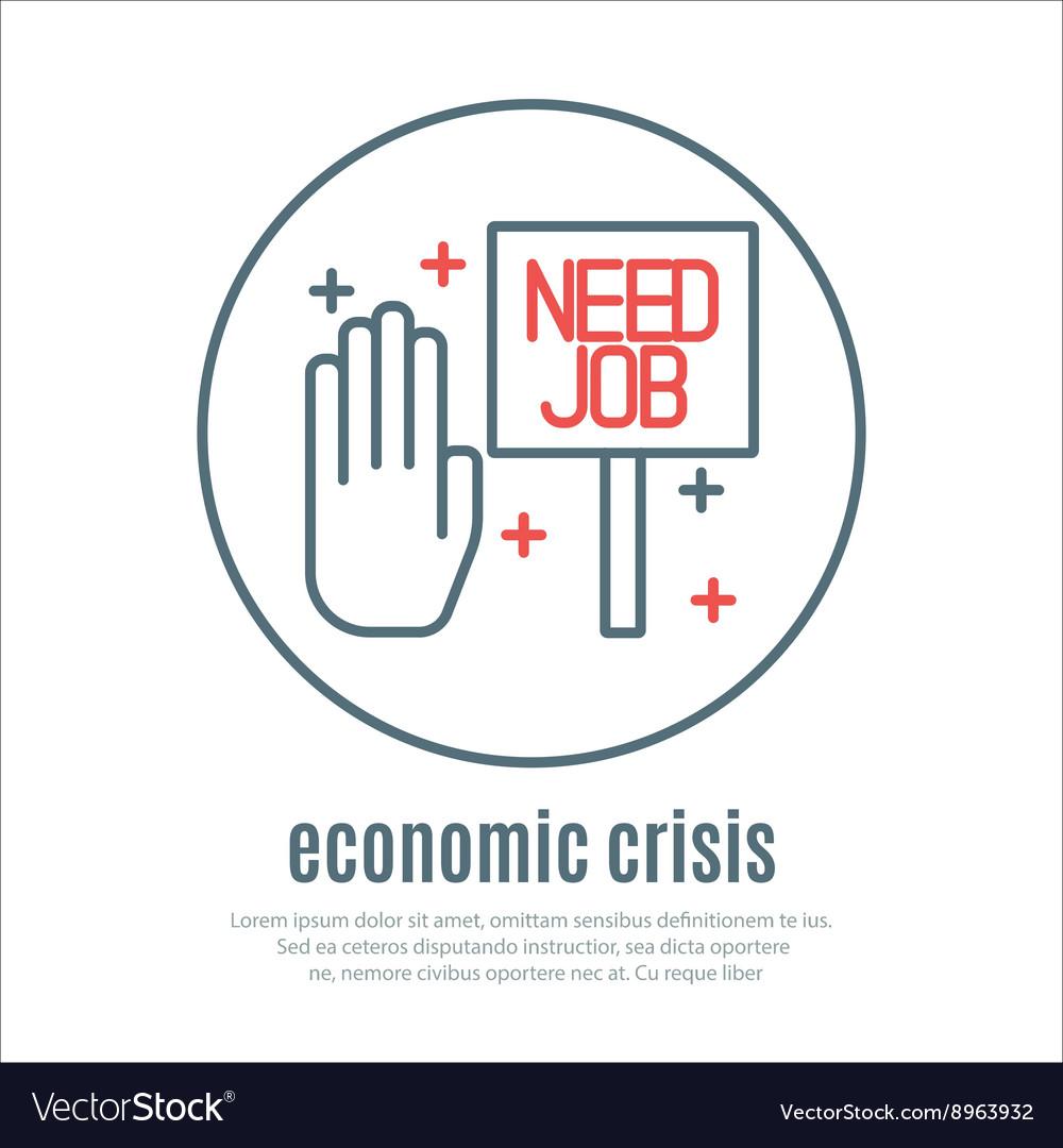 Icon on a theme of economic crisis