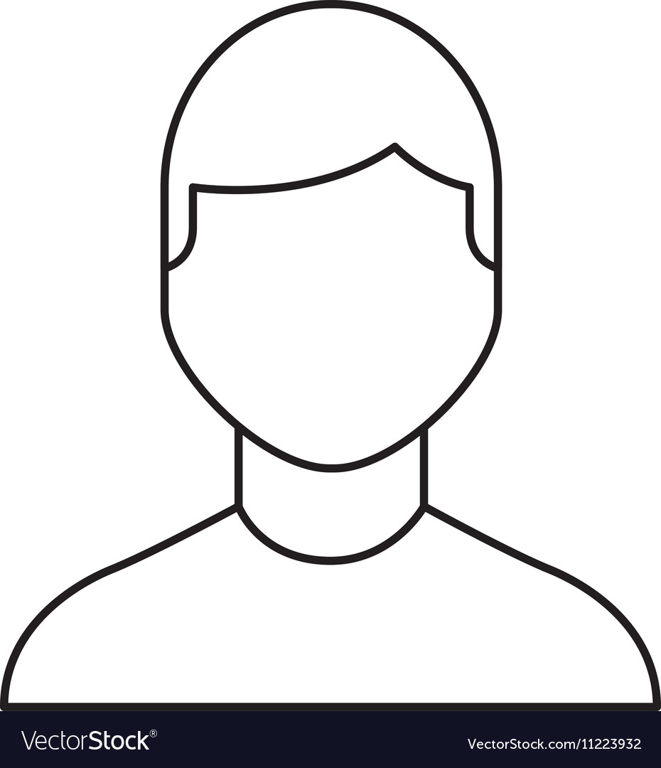 Man male avatar line icon