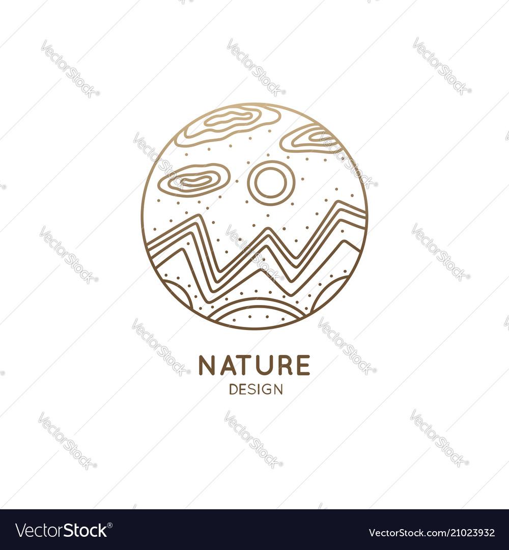 Nature linear logo