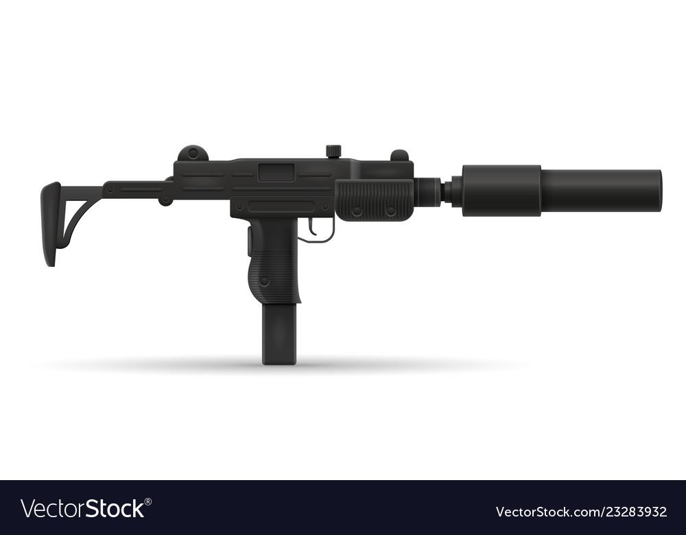 Submachine machine hand gun weapons stock