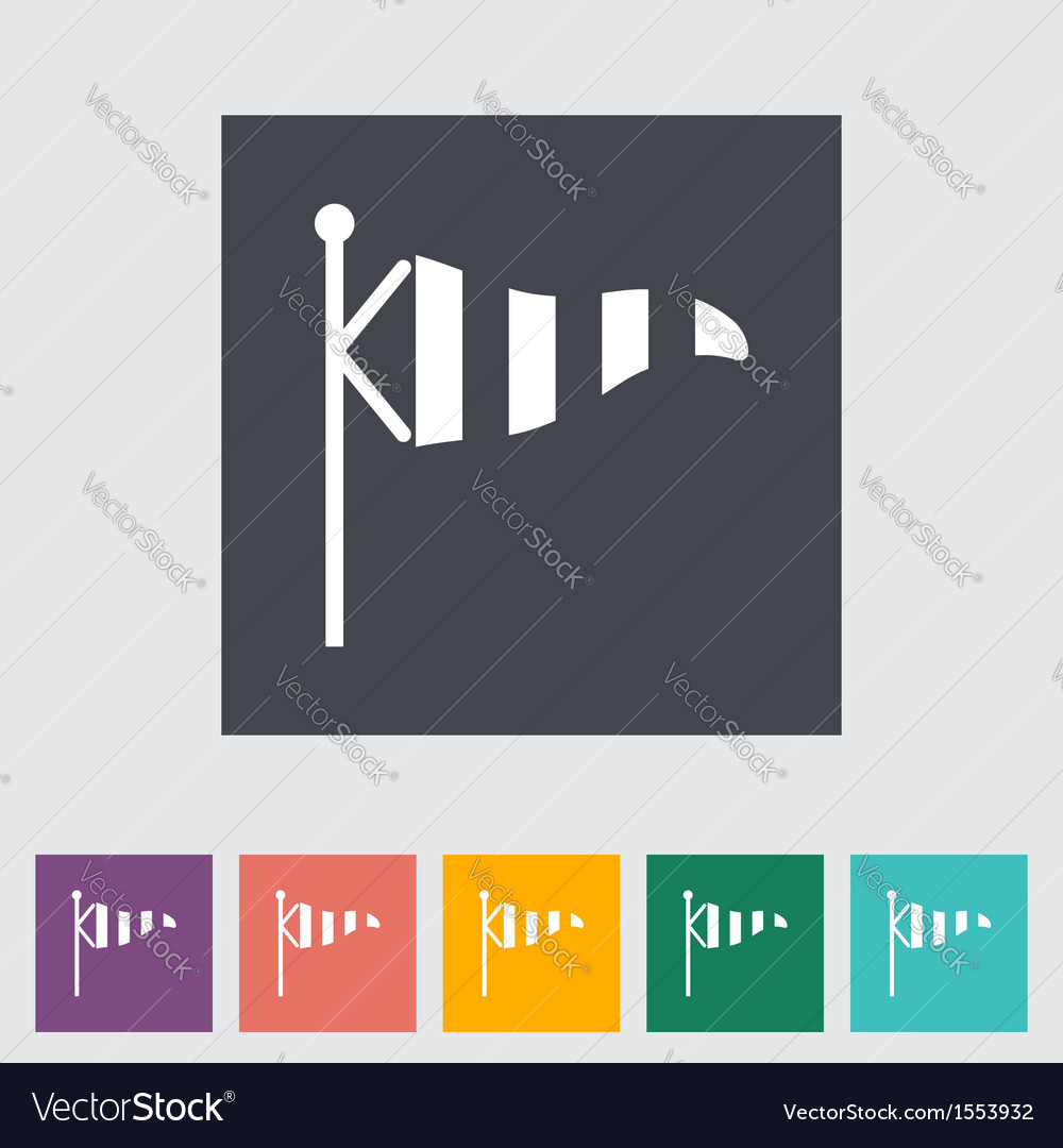 Wind speed flag vector image