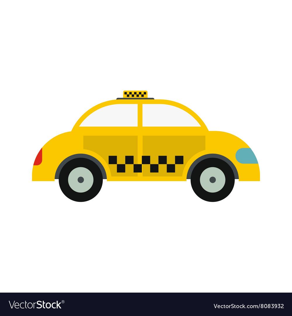 Yellow taxi icon