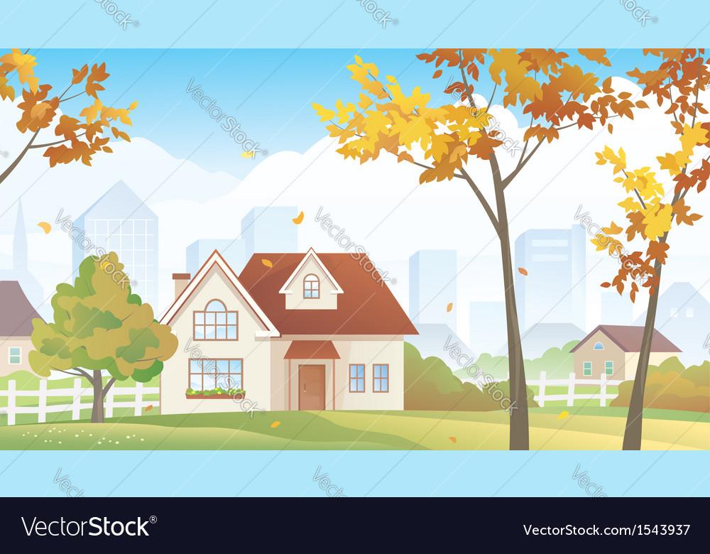 Fall suburb