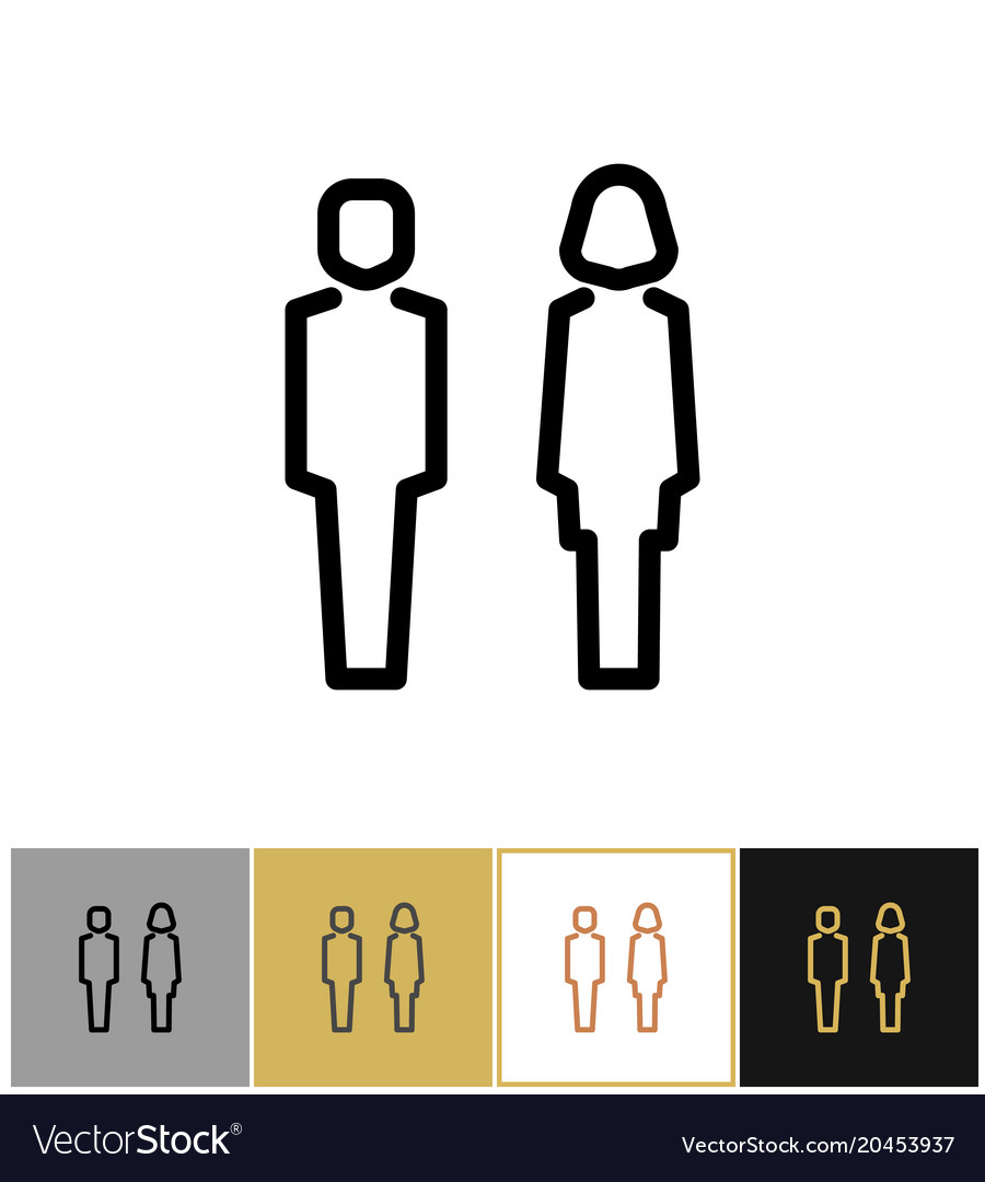 Man And Woman Icon Boy And Girls Bathroom Symbols Vector Image