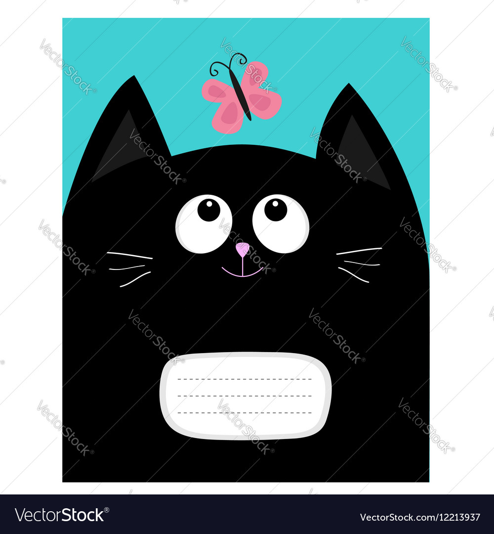 Notebook Cover Composition Book Template Black Cat
