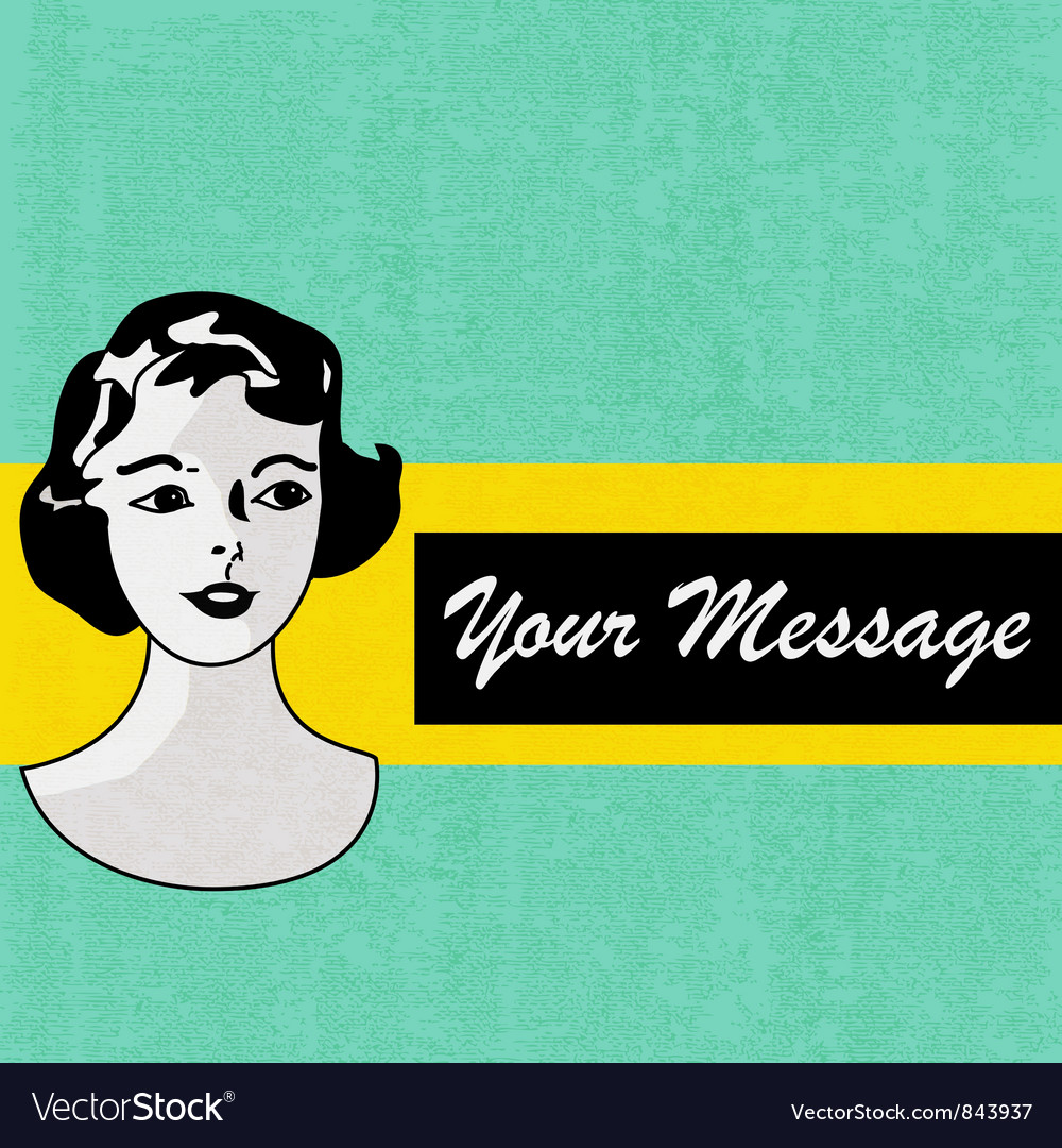 Retro Message Background