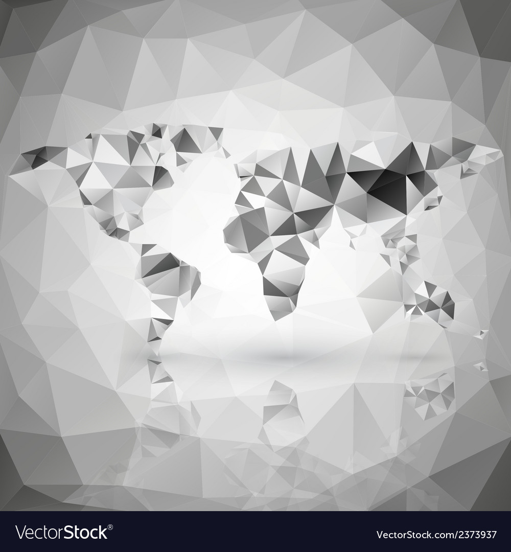 World map triangle design royalty free vector image world map triangle design vector image gumiabroncs Image collections