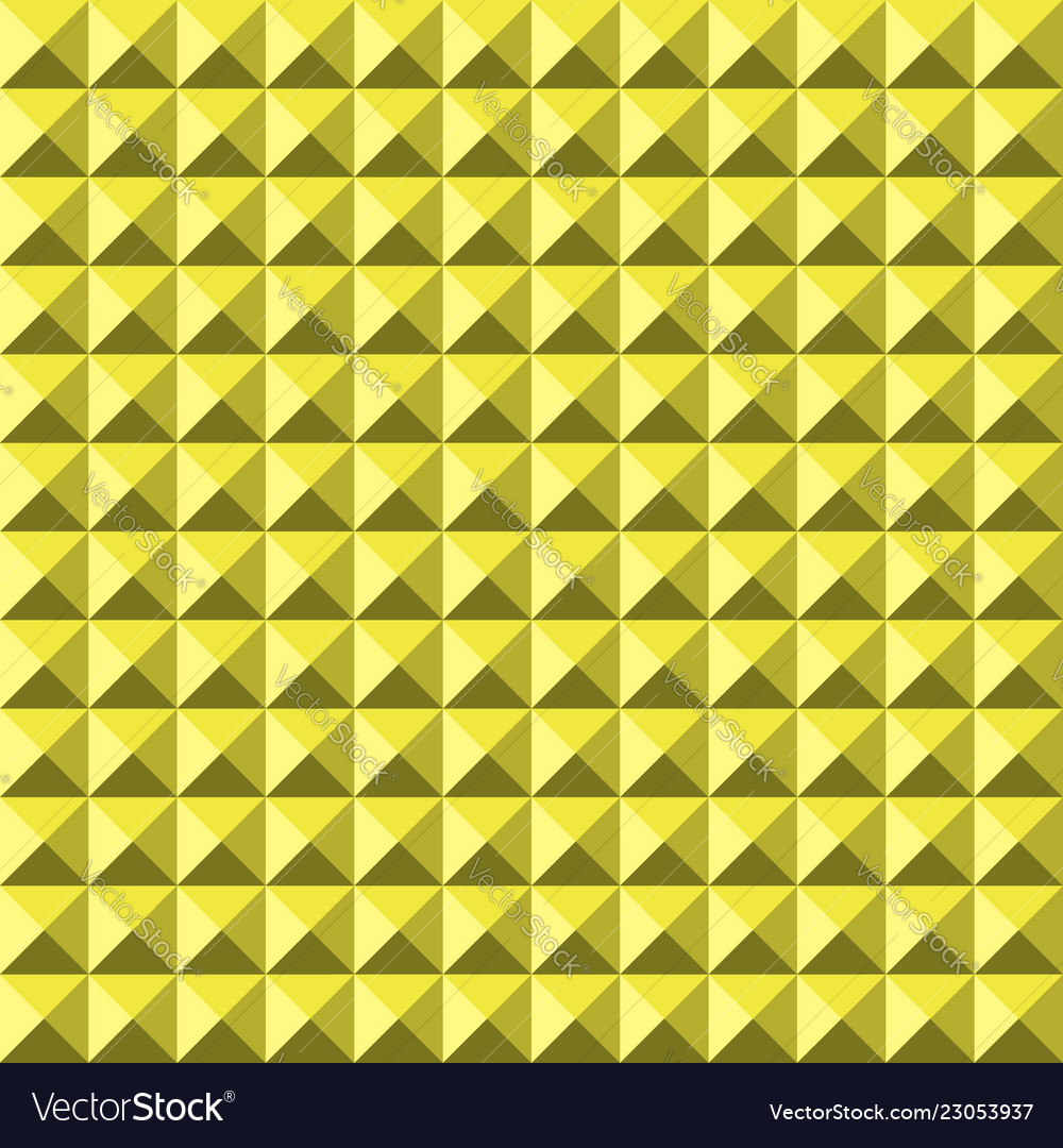 Yellow background abstract pyramidas texture