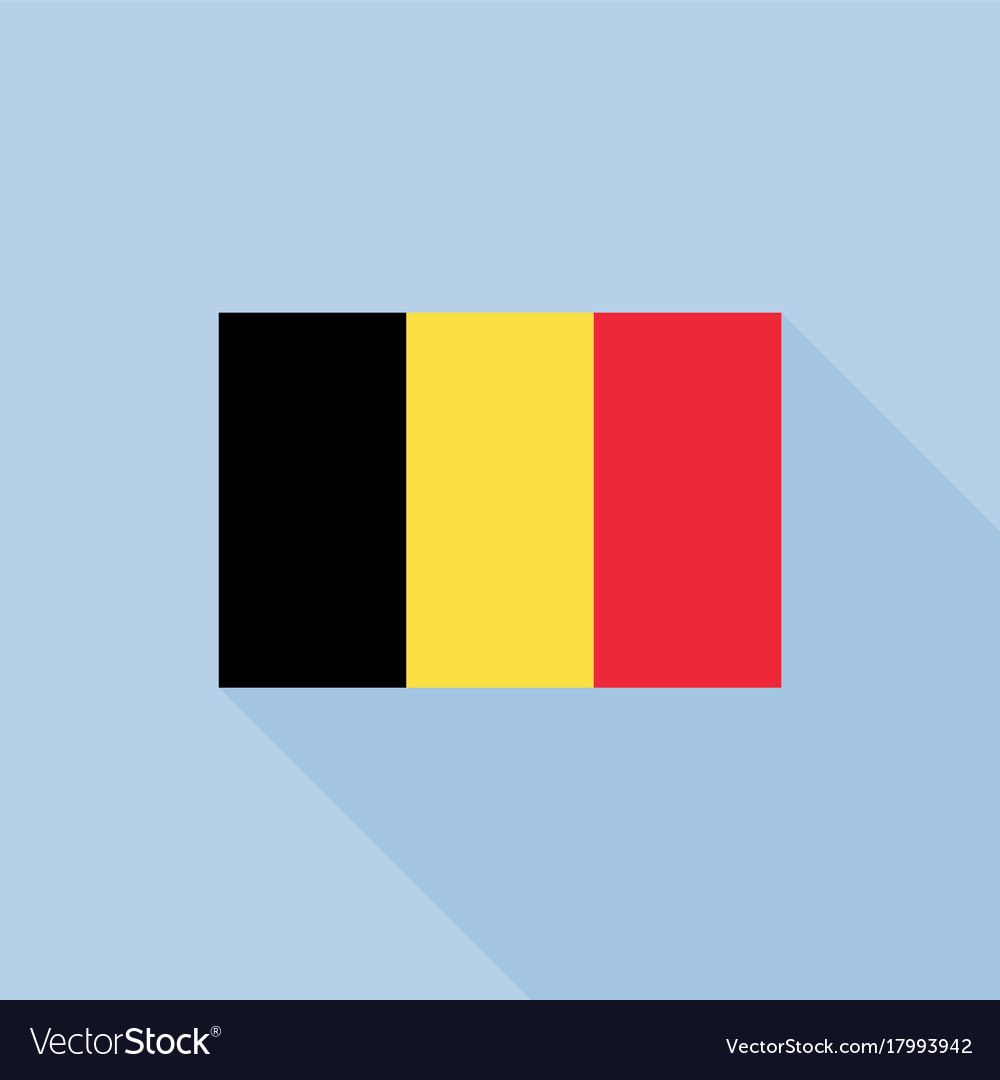 Belgium flag in official proportions