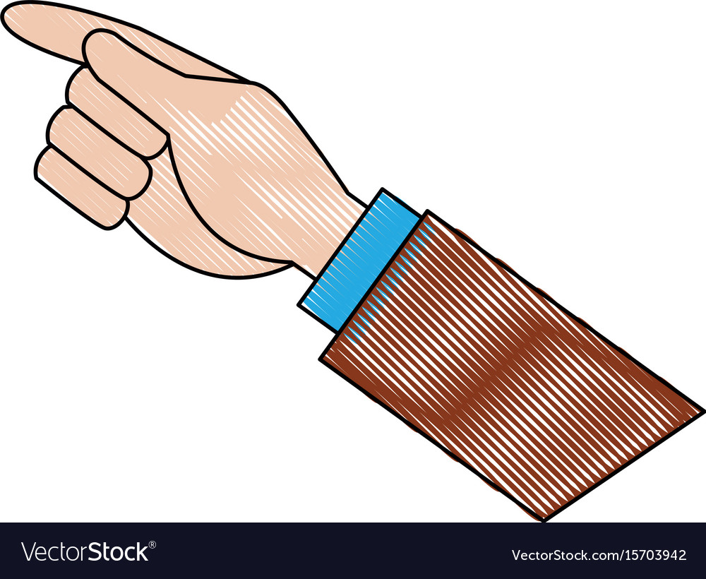 Businessman hand pointing up gesture vector image on VectorStock