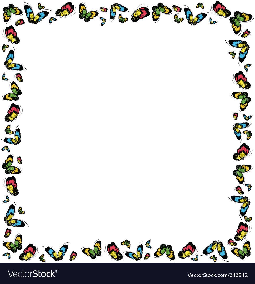 Butterfly frame Royalty Free Vector Image - VectorStock