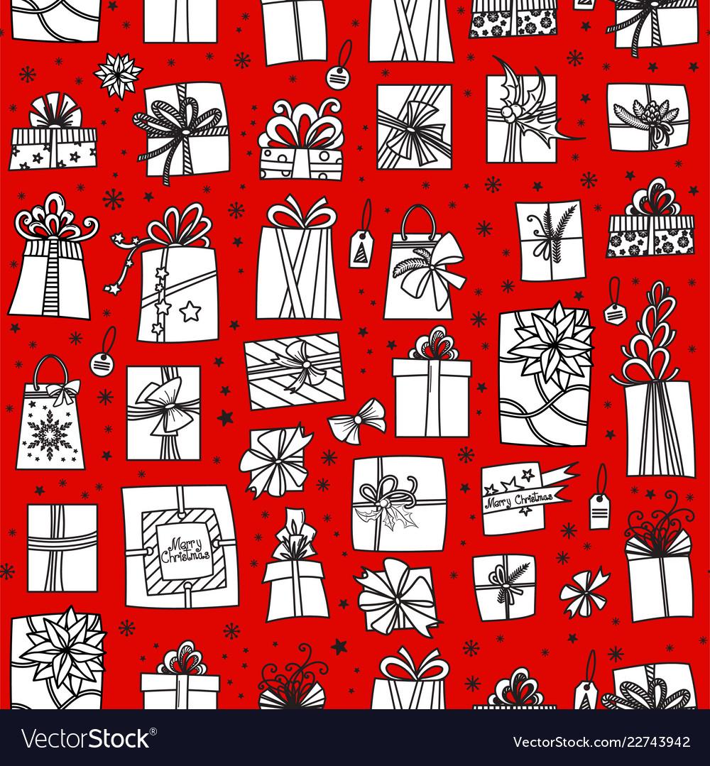 Christmas presents seamless pattern