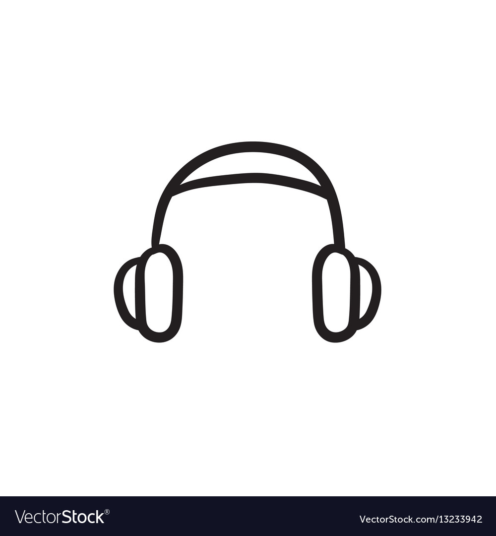 Headphone sketch icon