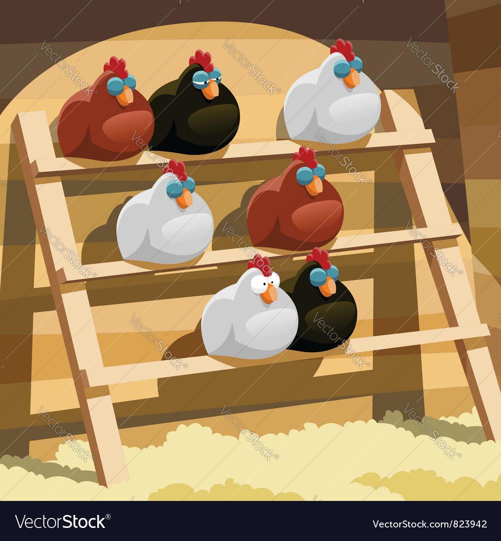 Great Hen House Vector Image