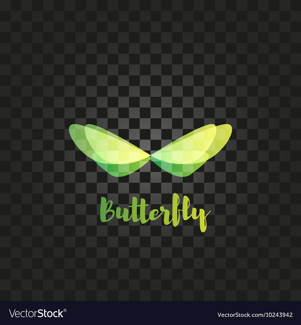Isolated green butterfly logo Insects