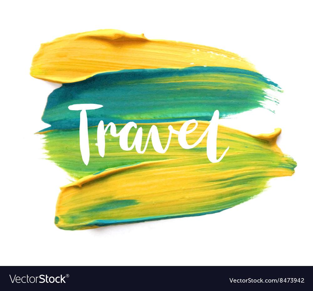 Motivation poster travel vector image