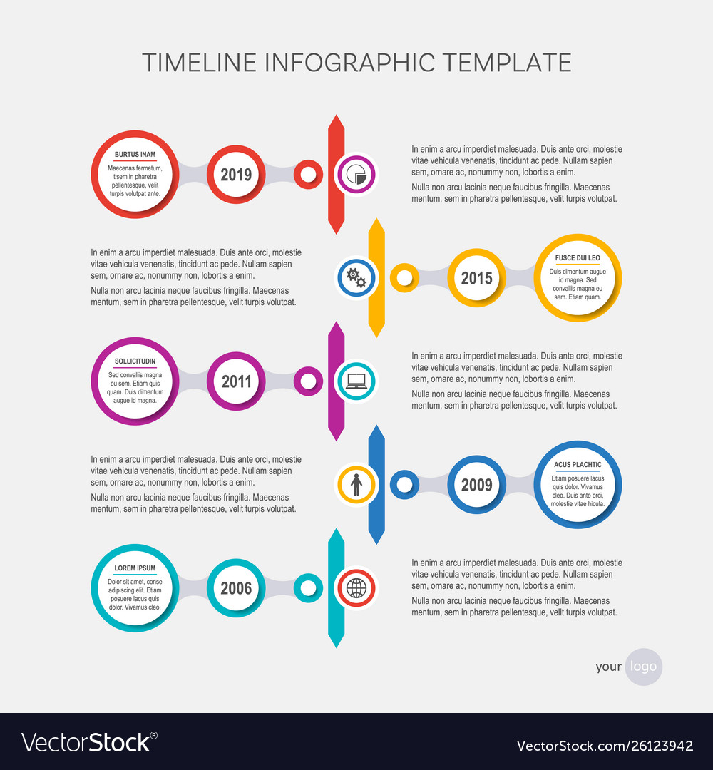 Timeline design your company history