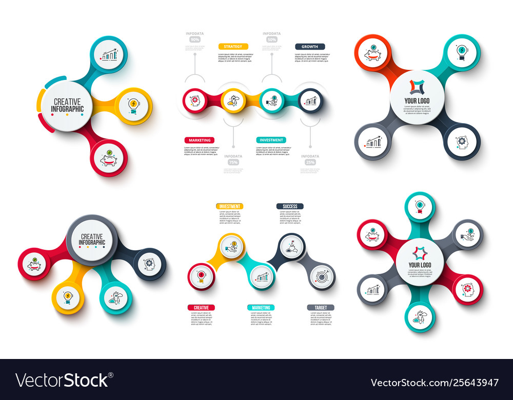 Circles infographic set business diagrams