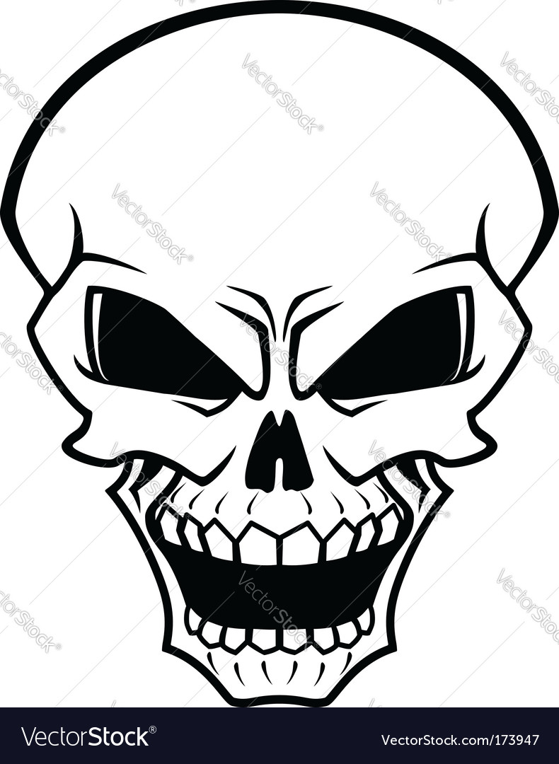 danger skull royalty free vector image vectorstock rh vectorstock com animal skull vectors skull vectors free download