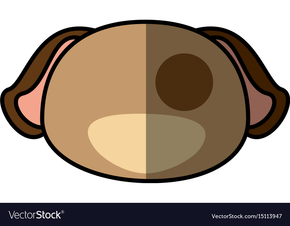Dog pet faceless cartoon vector image
