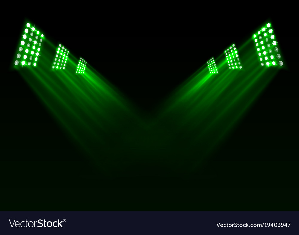 Green stage lights background vector image  sc 1 st  VectorStock & Green stage lights background Royalty Free Vector Image