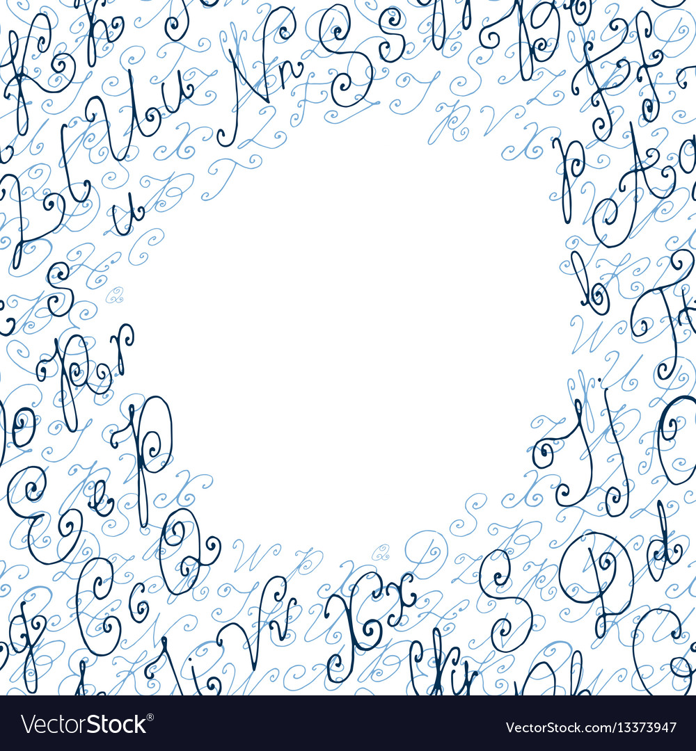 Hand drawn circle background or frame