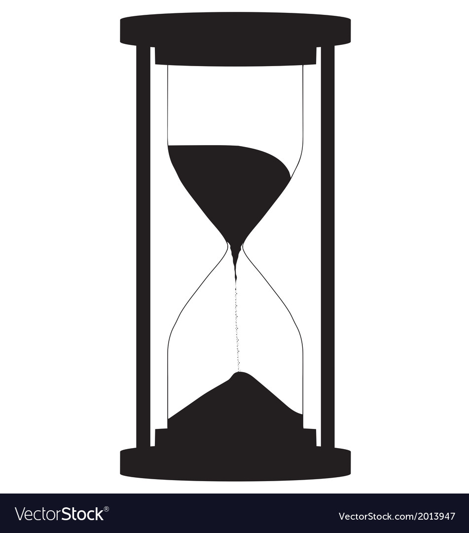 hourglass royalty free vector image vectorstock rh vectorstock com hourglass vector image hourglass vector png