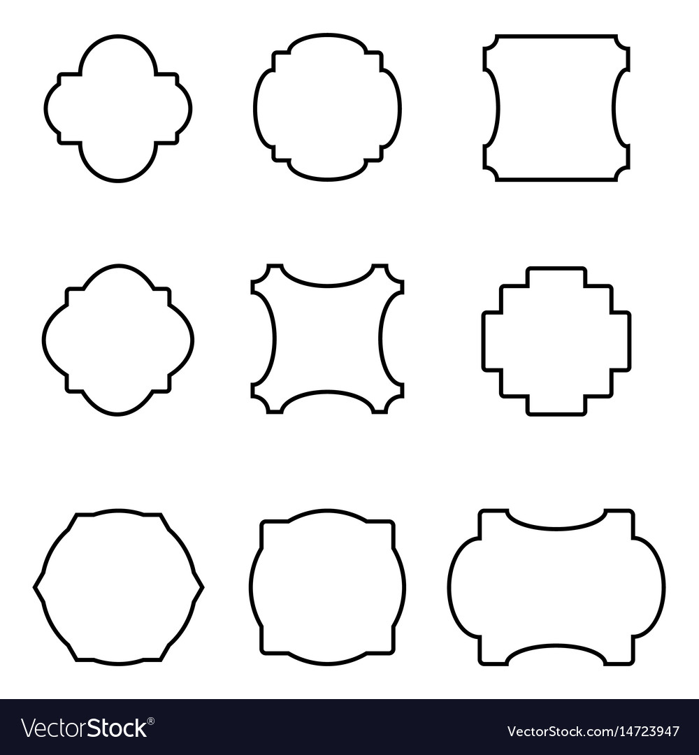 Set of simple frames Royalty Free Vector Image