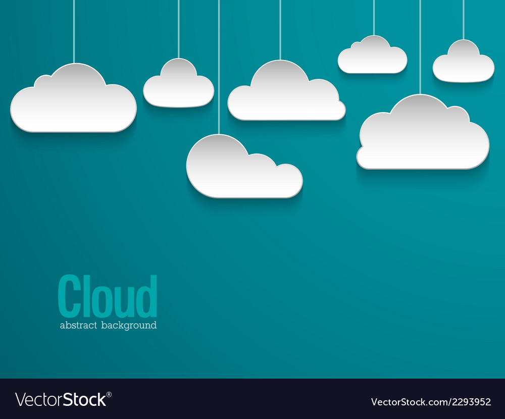 Abstract paper clouds background