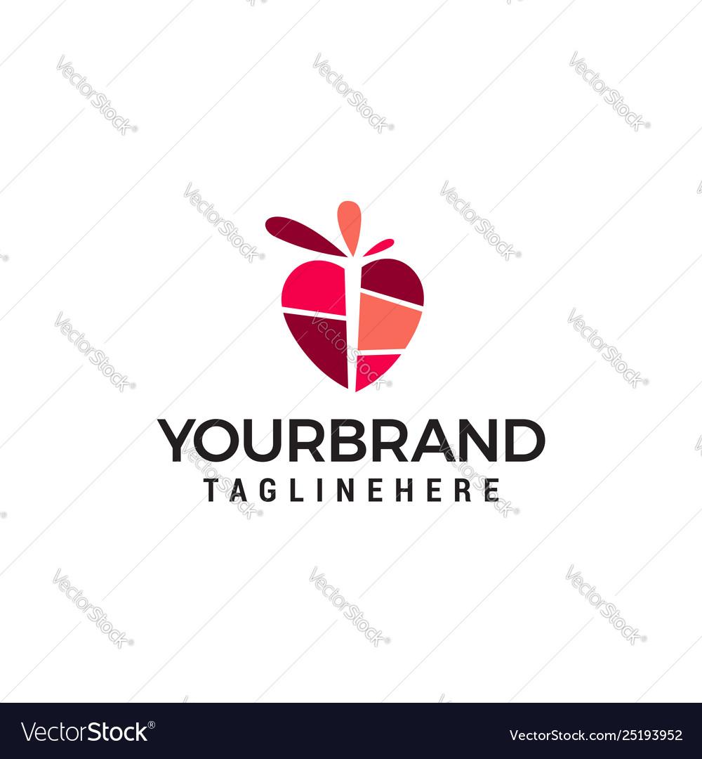 Heart logo design concept template
