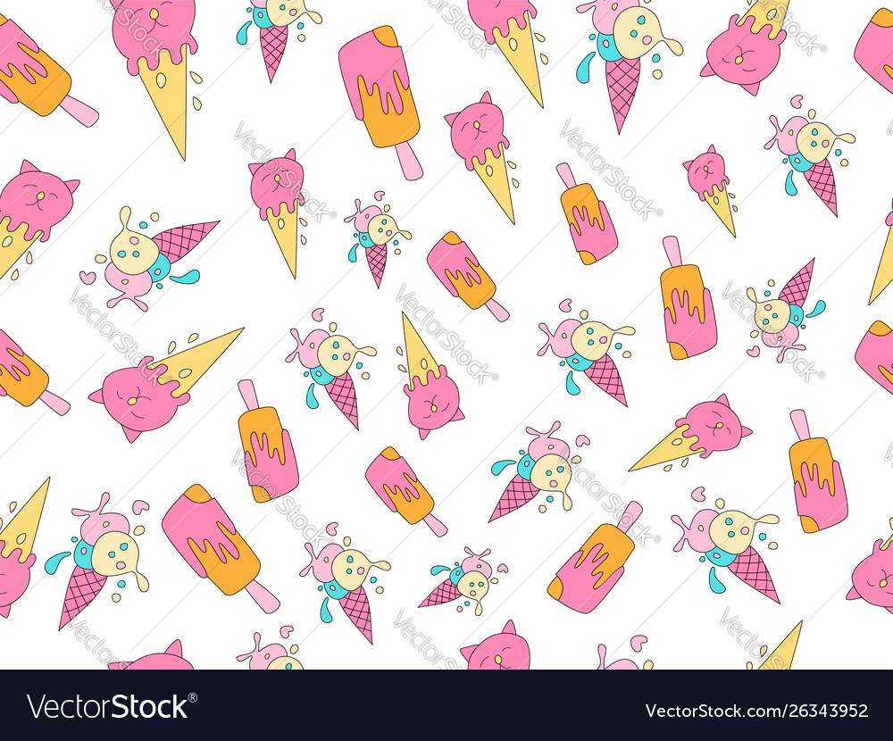 Ice cream cartoon pattern sweet icecream