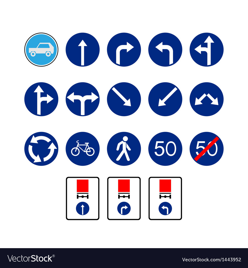 Mandatory signs vector image