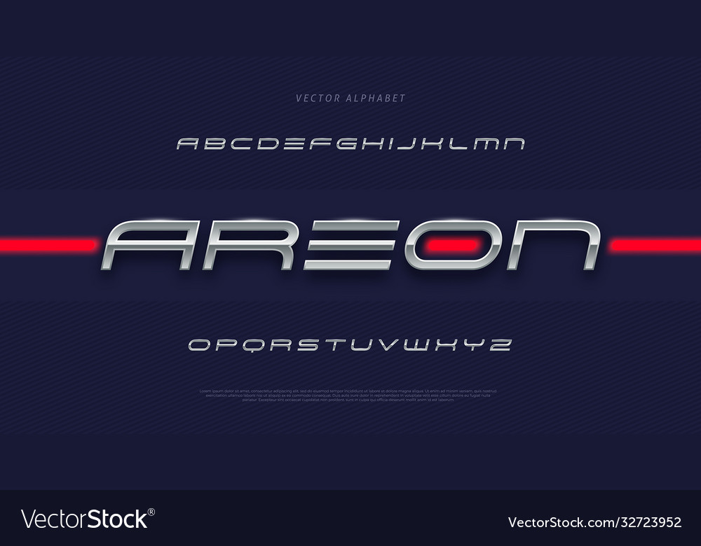 Modern futuristic tech font