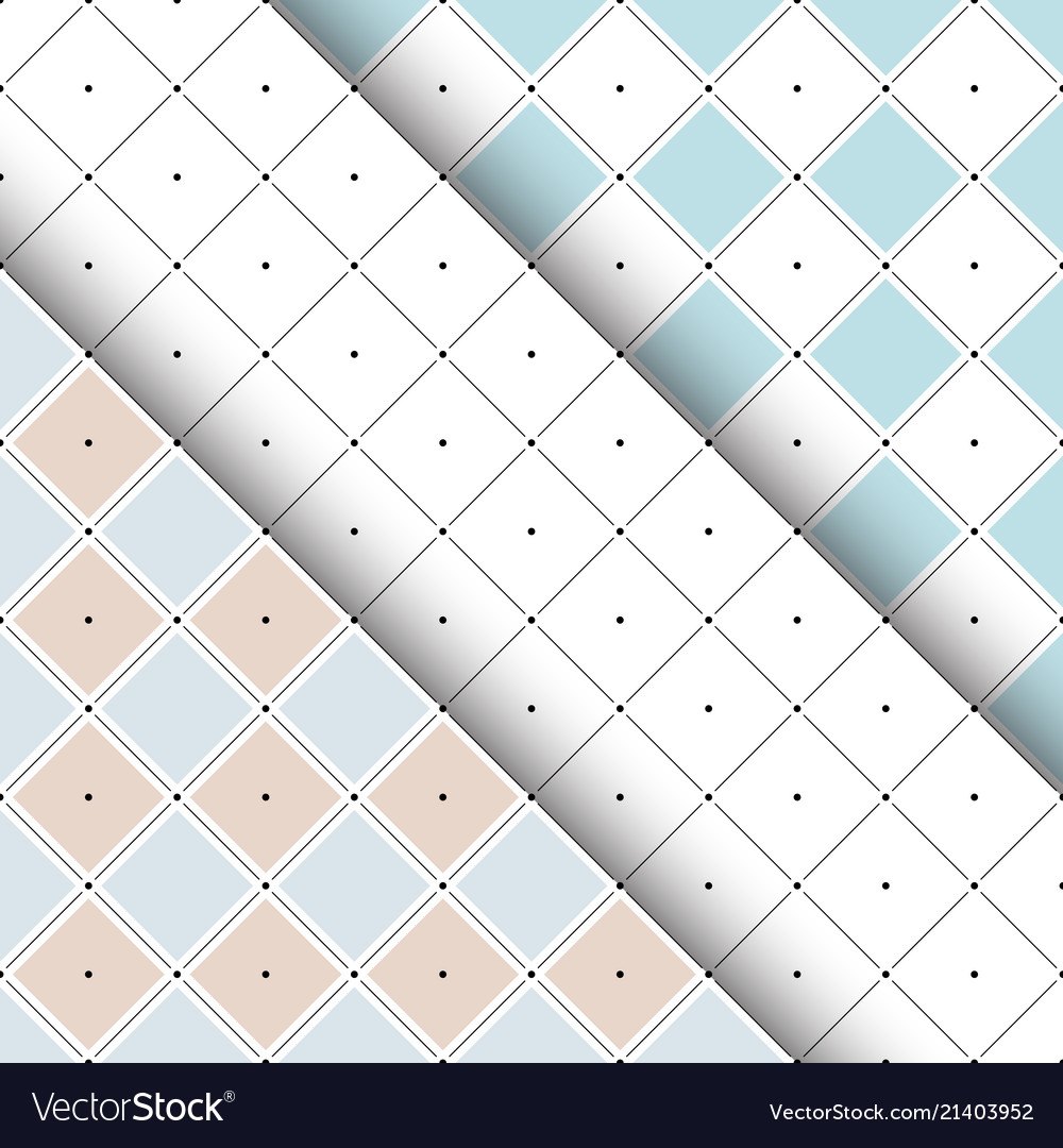 Seamless patterns with rhombuses and dots