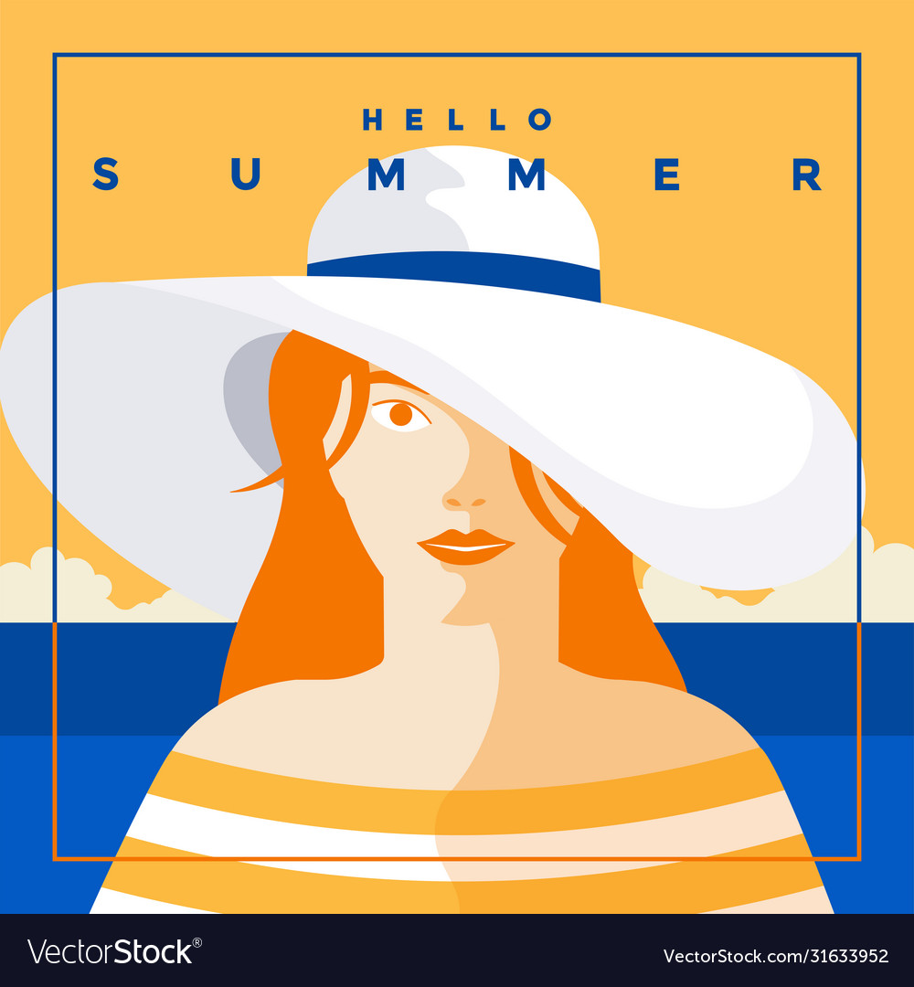 Summer background flat design summer time 6