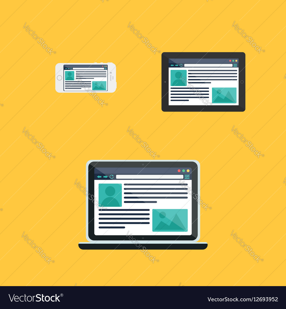 Web Template of Adaptive Site or Article Form