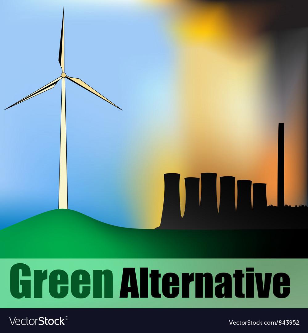 Wind Power vs Carbon Power vector image