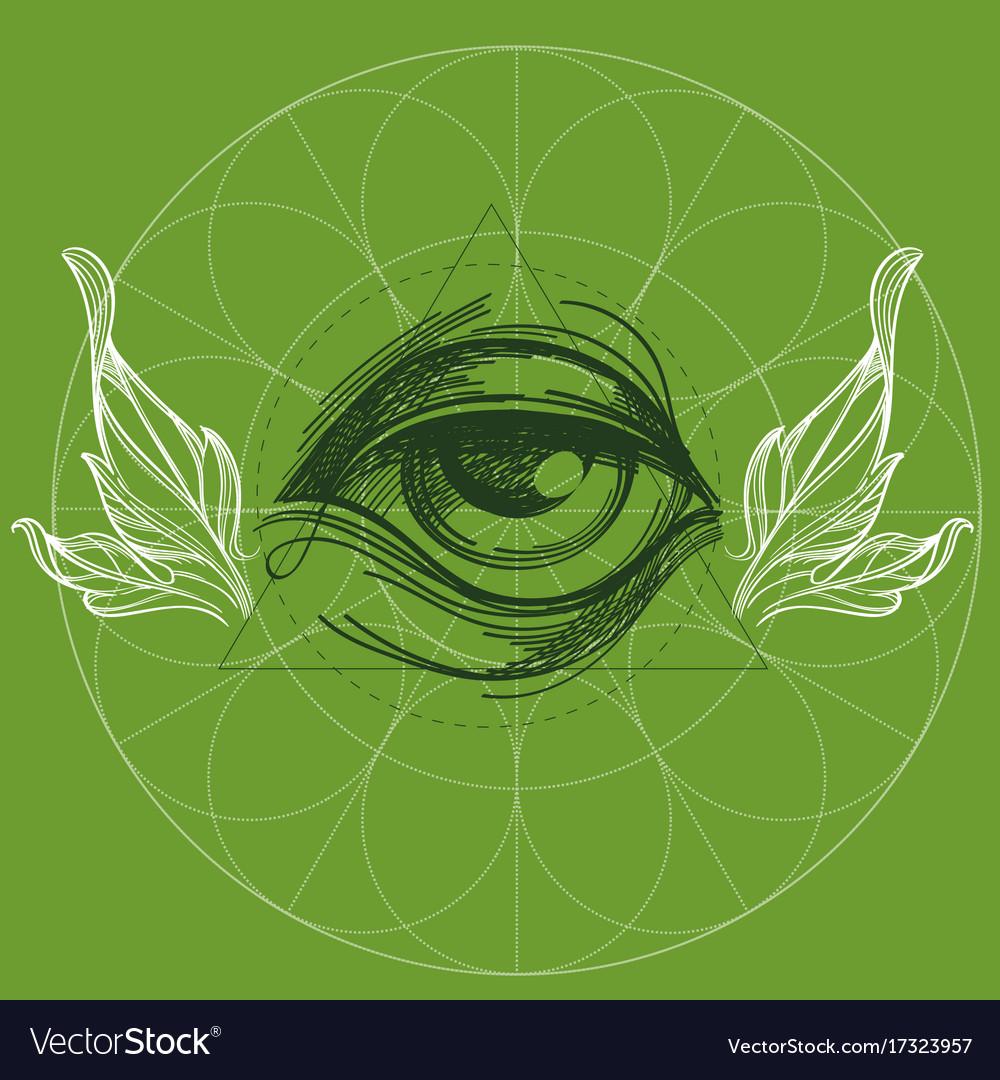 A magical eye in style boho contour