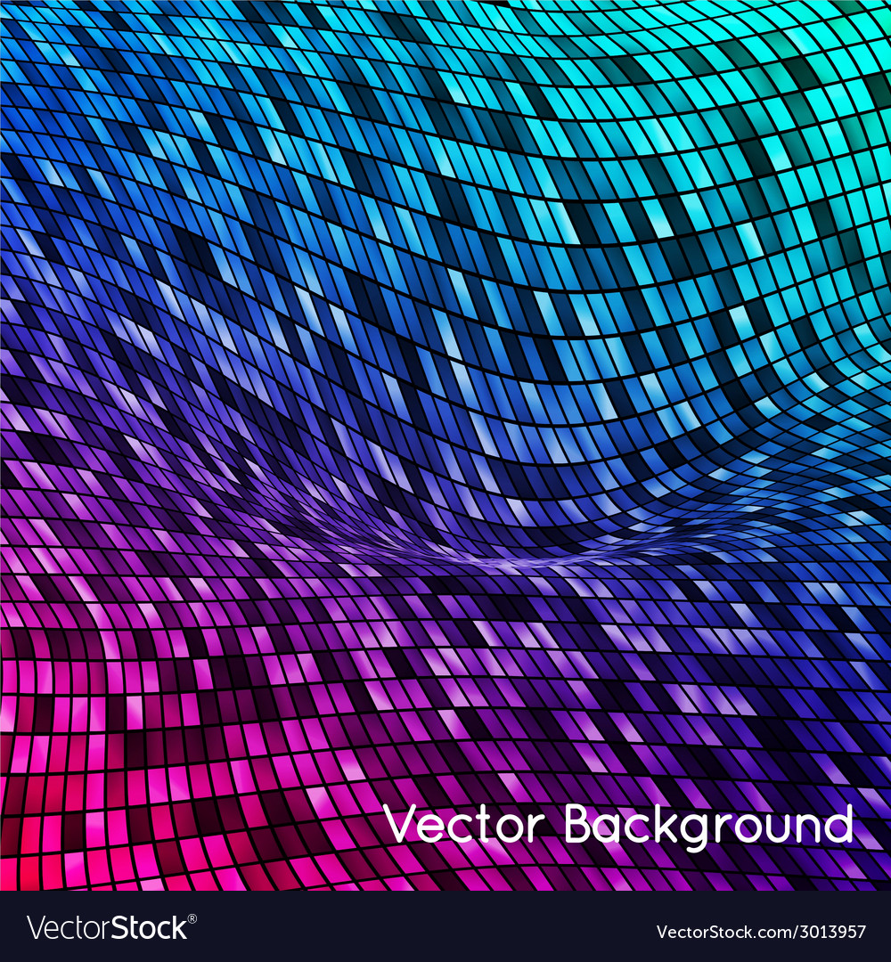 Abstract grid rainbow background