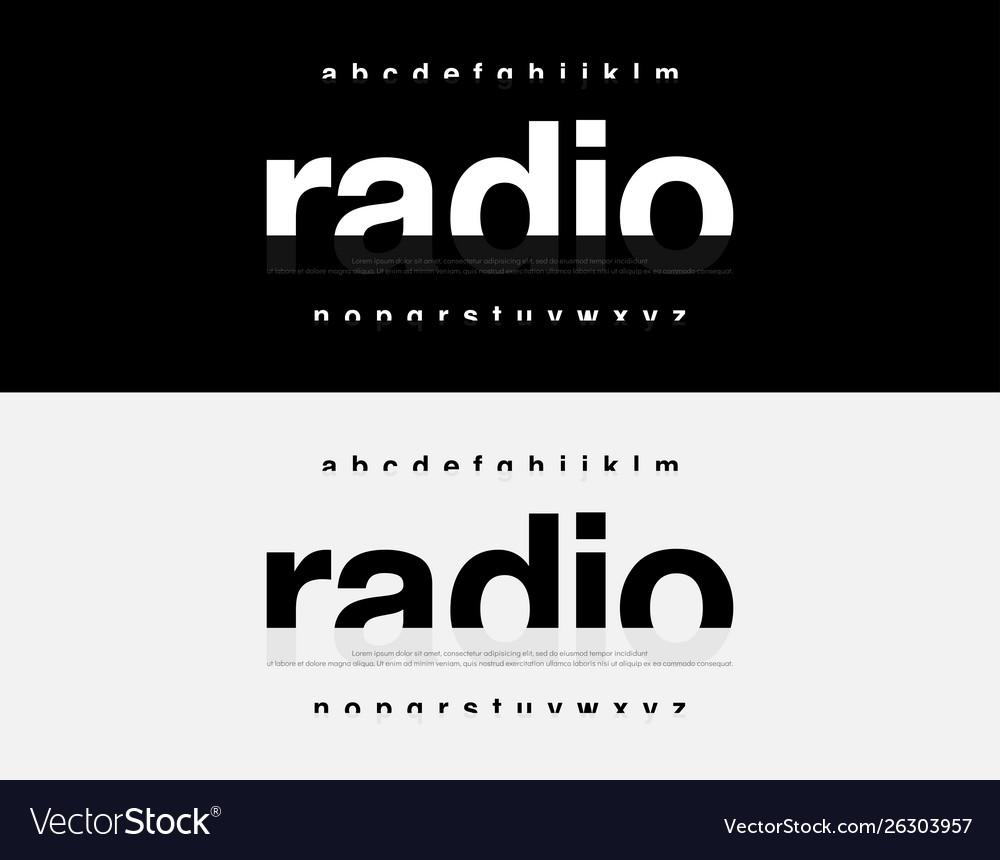 Abstract modern alphabet font typography urban