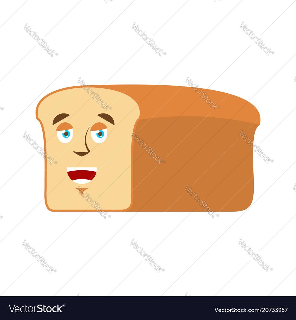 Bread happy emoji piece of bread laughs emotion